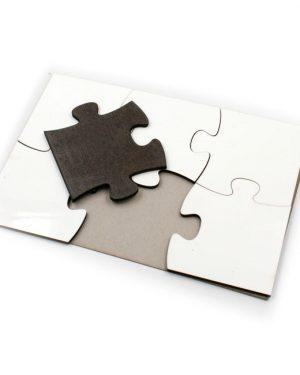 Puzzle A5 MDF 6 dílků
