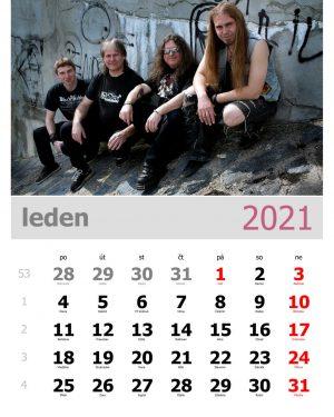 Kalendář A4 – vzor 1