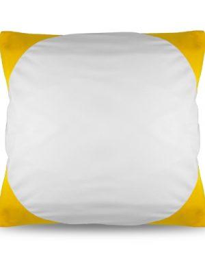 Povlak na polštář FUNKY s potiskem žlutý 40×40 cm