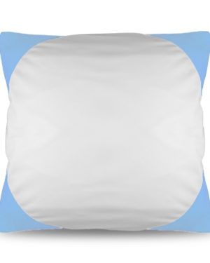Povlak na polštář FUNKY s potiskem sv. modrý 40×40 cm
